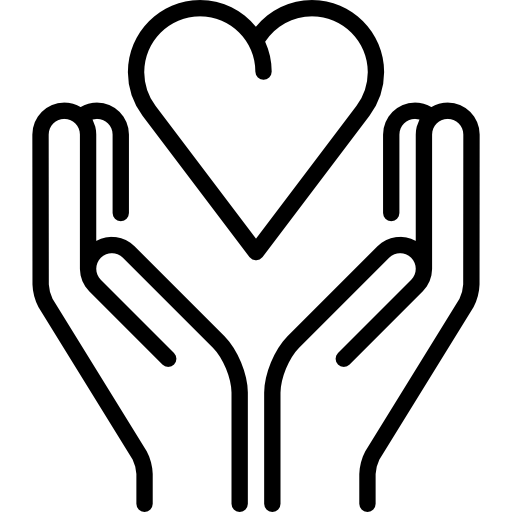 hand in hearts icon