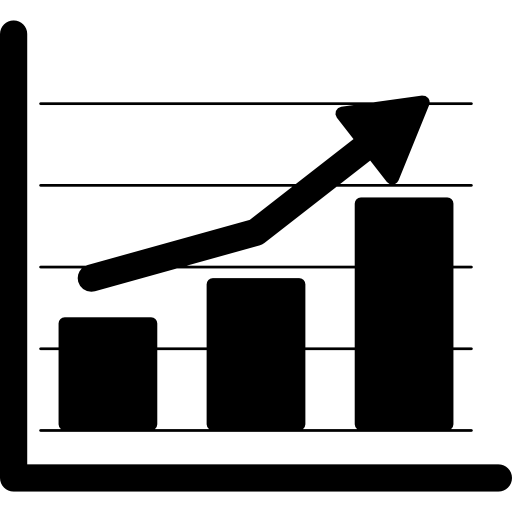 financial-bars-stats icon