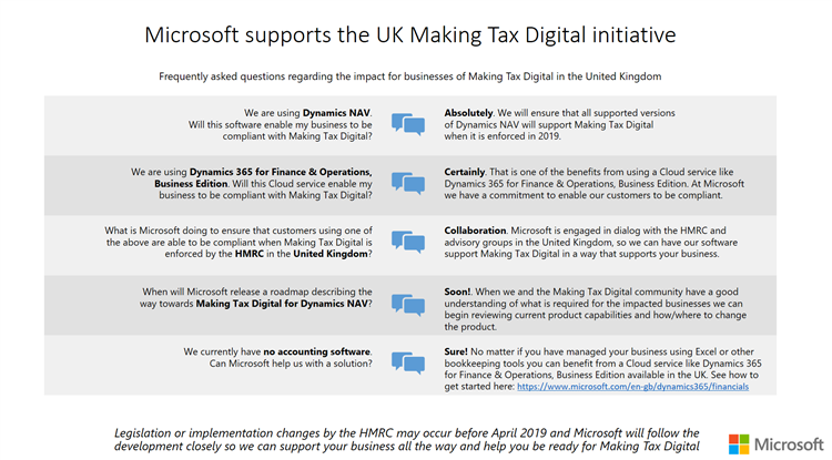 Making Tax Digital Microsoft Supports the new intiative