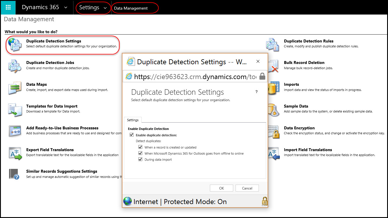 How to create and use duplicate detection rules in Dynamics 365