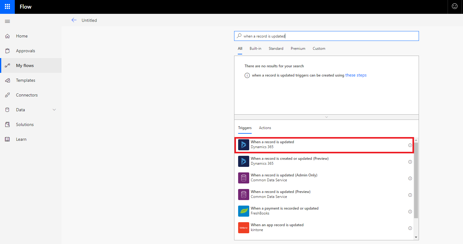 How to use Microsoft Flow with Dynamics 365 for Customer Engagement
