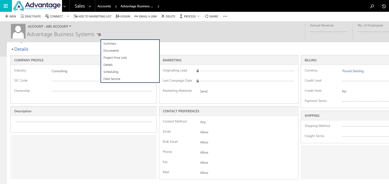 Tabs vs Sections in Dynamics 365
