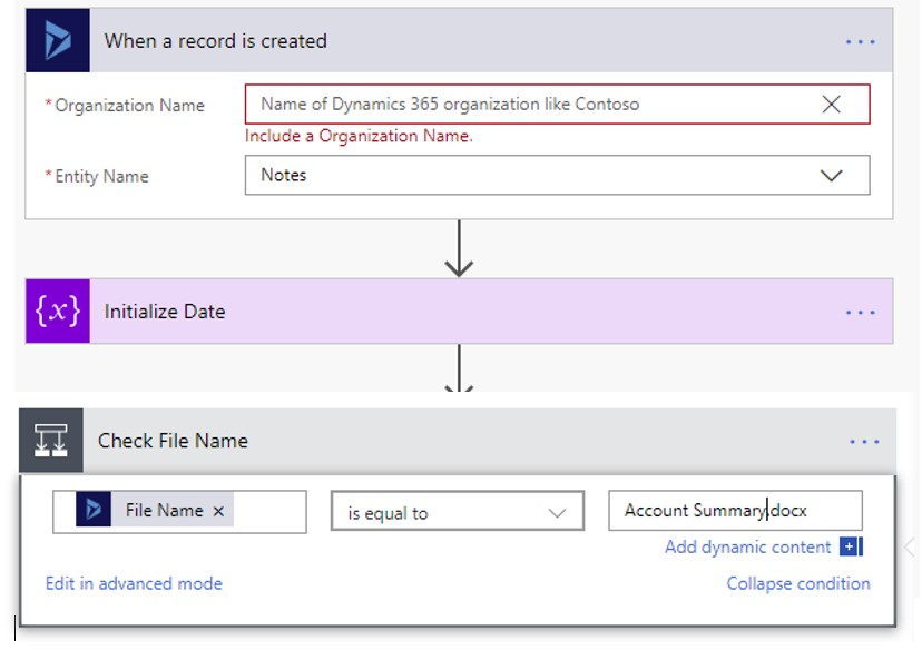 Creating a note with an attachment in Dynamics 365
