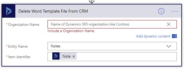 Delete Word Template from CRM